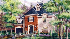 House Plan 49920 with 3 Beds, 2 Baths, 1 Car Garage Elevation