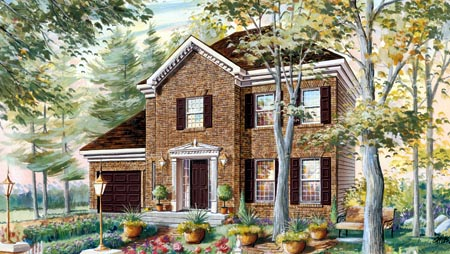 House Plan 49921 Elevation