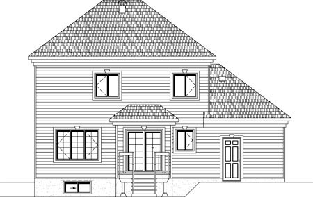 House Plan 49921 Rear Elevation