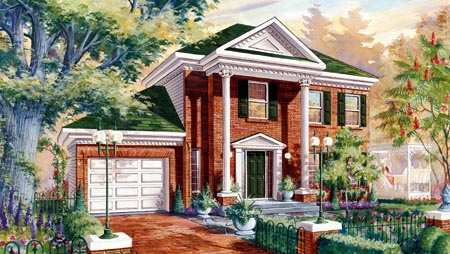 House Plan 49922 Elevation