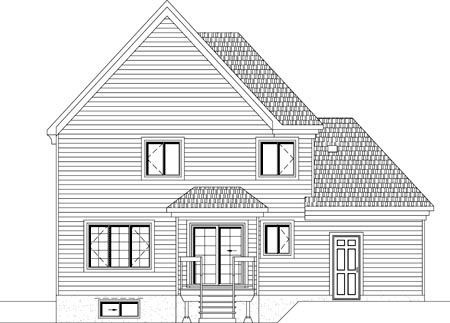 House Plan 49923 Rear Elevation