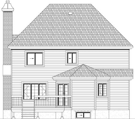 House Plan 49924 Rear Elevation