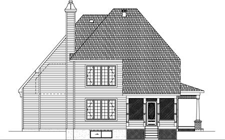 House Plan 49925 Rear Elevation