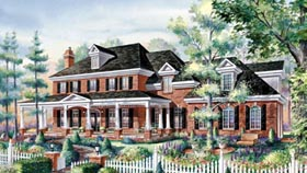 House Plan 49926 Elevation