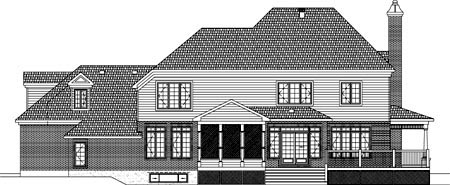 House Plan 49926 Rear Elevation
