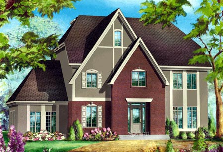 House Plan 49927 Elevation
