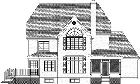 House Plan 49927 Rear Elevation