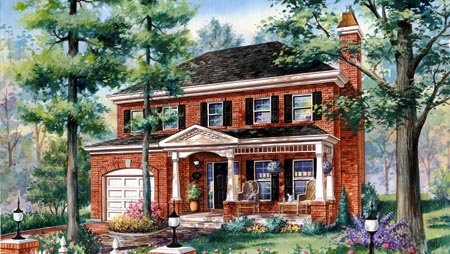 House Plan 49928 with 3 Beds, 2 Baths, 1 Car Garage Elevation