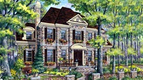 House Plan 49929 Elevation