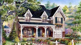 House Plan 49930 | Style Plan with 1895 Sq Ft, 3 Bedrooms, 2 Bathrooms, 1 Car Garage Elevation