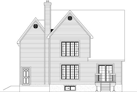 House Plan 49930 Rear Elevation