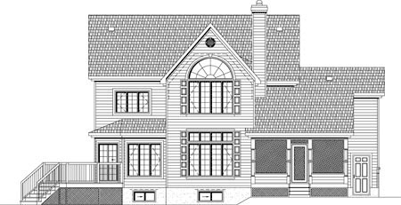 House Plan 49931 Rear Elevation