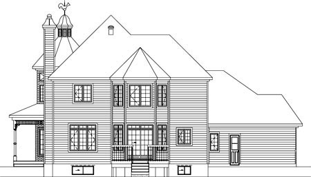 House Plan 49932 Rear Elevation