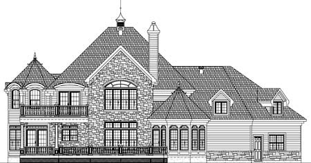 House Plan 49933 with 3 Beds, 3 Baths, 2 Car Garage Picture 1