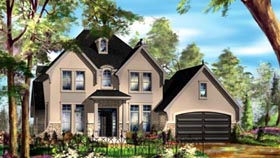 House Plan 49934 with 3 Beds, 2 Baths, 2 Car Garage Elevation