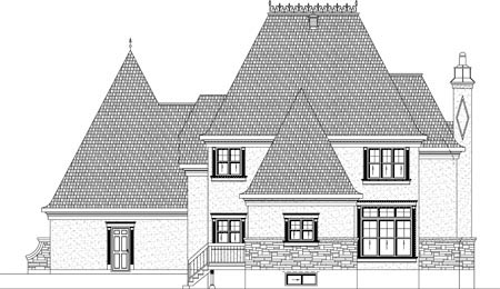 House Plan 49935 Rear Elevation