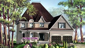 House Plan 49936 with 3 Beds, 3 Baths, 2 Car Garage Elevation