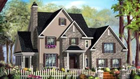 House Plan 49937 | Style Plan with 2332 Sq Ft, 3 Bedrooms, 2 Bathrooms, 2 Car Garage Elevation
