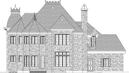 House Plan 49938 Rear Elevation