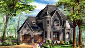 House Plan 49940 with 3 Beds, 2 Baths, 2 Car Garage Elevation