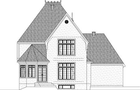 House Plan 49940 Rear Elevation