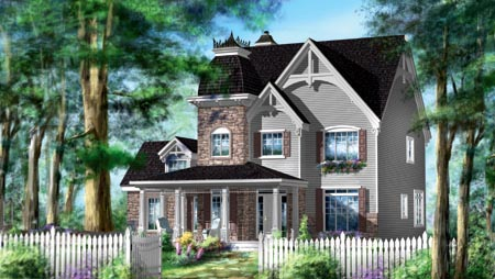 House Plan 49941 Elevation