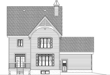 House Plan 49941 Rear Elevation