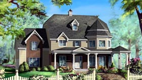 House Plan 49942 with 3 Beds, 3 Baths, 2 Car Garage Elevation