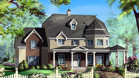 House Plan 49942 Elevation