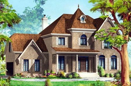 House Plan 49944 Elevation