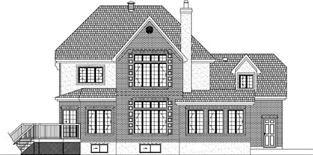 House Plan 49944 Rear Elevation