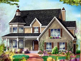 House Plan 49945 Elevation
