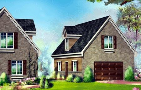 House Plan 49945 Rear Elevation