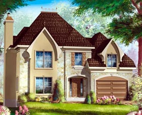 House Plan 49946 Elevation