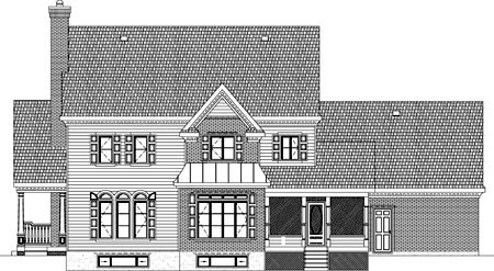 House Plan 49947 Rear Elevation