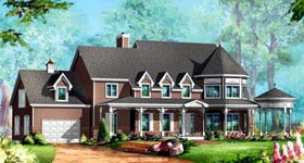 House Plan 49948 Elevation