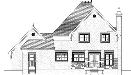 House Plan 49950 Rear Elevation