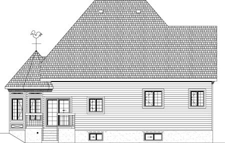 House Plan 49951 Rear Elevation