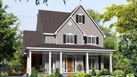 House Plan 49953 Elevation