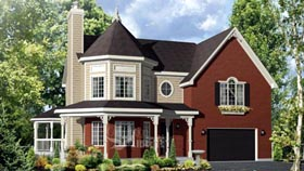 House Plan 49954 with 3 Beds, 2 Baths, 2 Car Garage Elevation