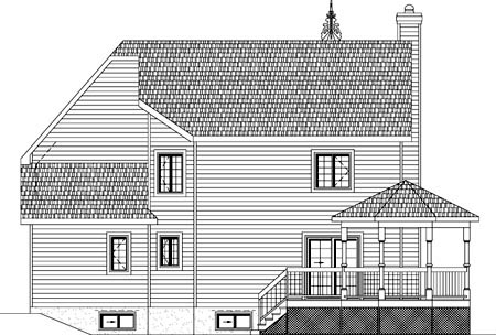 House Plan 49954 Rear Elevation