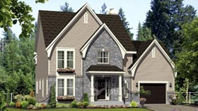 House Plan 49955 with 3 Beds, 2 Baths, 1 Car Garage Elevation