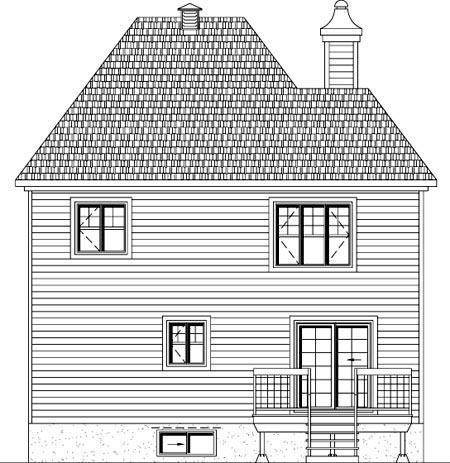 House Plan 49956 Rear Elevation