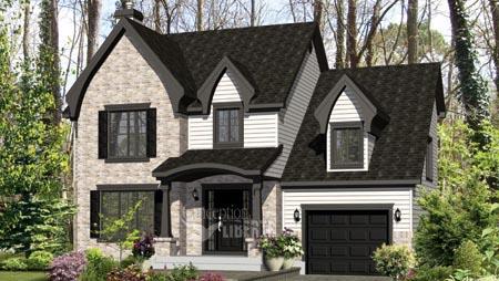 House Plan 49957 Elevation
