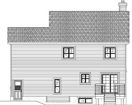 House Plan 49957 Rear Elevation