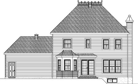House Plan 49958 Rear Elevation