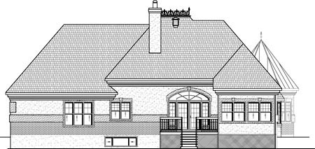 House Plan 49959 Rear Elevation