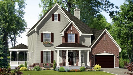 House Plan 49960 Elevation
