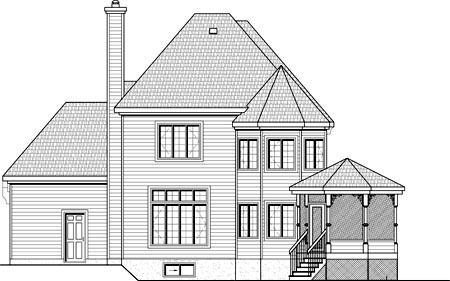 House Plan 49960 Rear Elevation