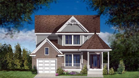 House Plan 49962 with 3 Beds, 2 Baths, 1 Car Garage Elevation
